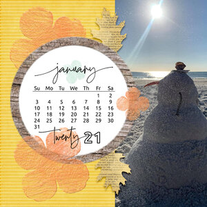 Featuring: Perpetual Calendar template and Cottage Reflection