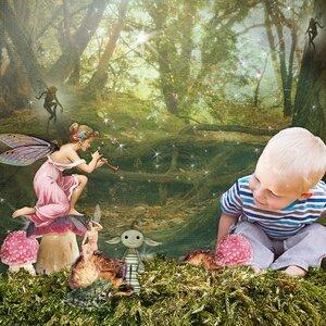 In the fairy garden