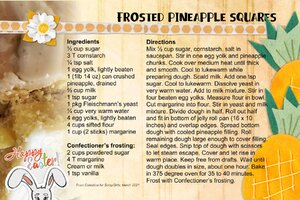 Celestine_Frosted Pineapple Squares