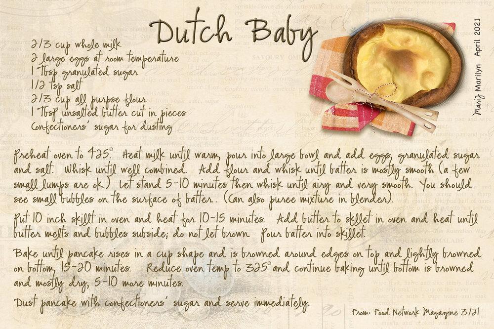 April '21 Recipe Swap: Breakfast - Dutch Baby