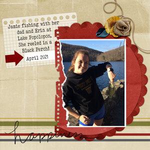 Jamie fishing