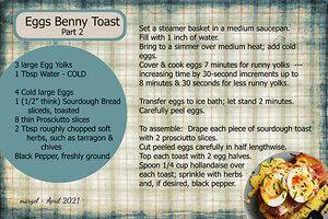 EGGS BENNY TOAST - PART 2
