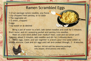 April 2021 SG Recipe Swap: Breakfast - Ramen Scrambled Eggs
