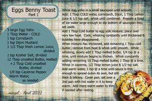 EGGS BENNY TOAST - PART 1