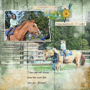 Zaniyah Riding a Horse