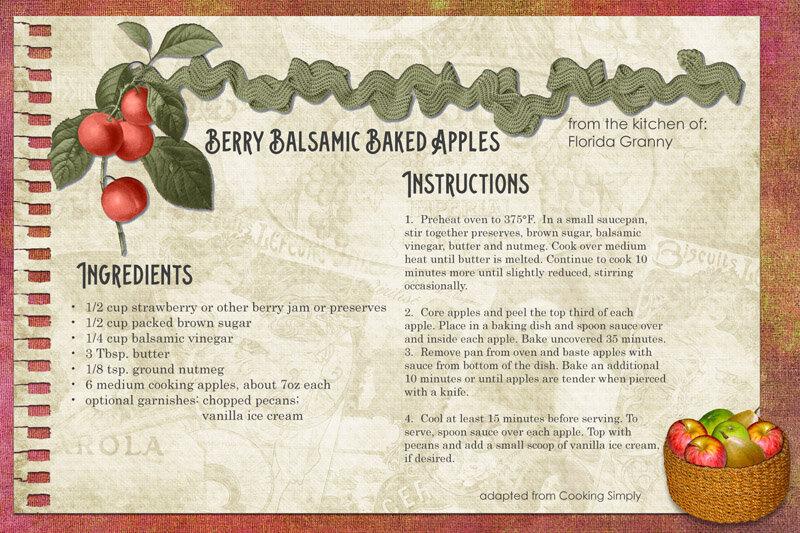 Berry Balsamic Baked Apples