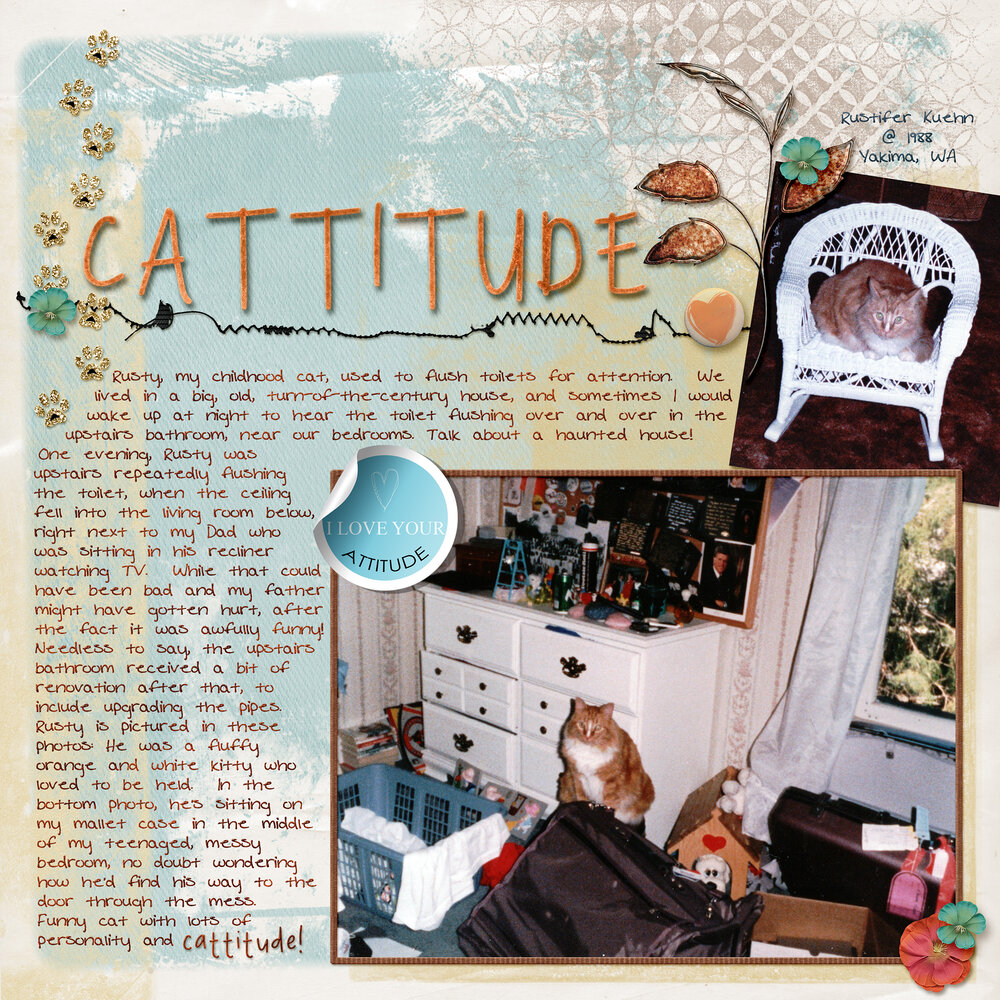Weekend Wildcard: Rusty, with CATTITUDE