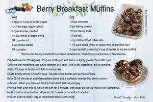 May 2021 SG Recipe Swap: Fruit - Berry Breakfast Muffins