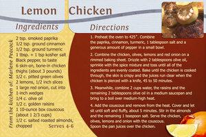 Lemon Chicken May 2021
