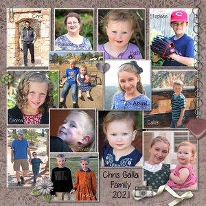 Chris Galla Family, 2021