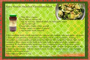 goosie Spicy Sesame Smashed Cucumber Salad