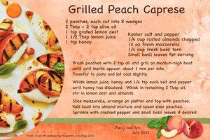 July 21 SG Recipe Swap: BBQ - Grilled Peach Caprese