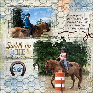 Olivia on Horse