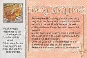July recipe challenge_Fruity BBQ Duck