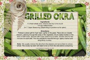 Celestine_Grilled Okra