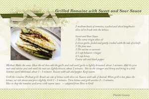 Grilled Romaine with Sweet and Sour Sauce