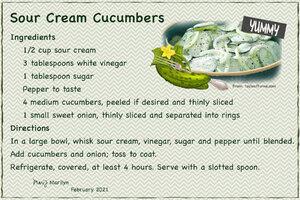 Julyn'21 SG Recipe Swap: BBQ - Sour Cream Cucumbers