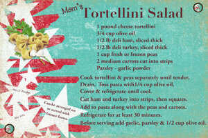 July 21 SG Recipe Swap BBQ: Mom's Tortellini Salad JP