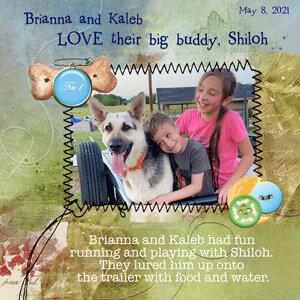 Brianna, Kaleb and Shiloh 5 2021 Tuesday 7/6 Challenge
